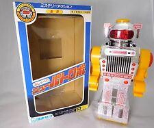 Vintage Yonezawa Robot Toy Talking Patrol tin masudaya Box JAPAN Working Rare