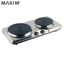 Maxim Portable Electric Double Hot Plate Cooker Dorm RV Travel Cooktop