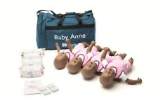 Pack 4 Baby Anne infant  manikin dark skin CPR and choking practice - NEW