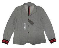 Armani Exchange A|X Mens Gray Slim Fit Sport Coat Blazer Cardigan Sweater Jacket