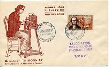 FDC / PREMIER JOUR FRANCE // N° 1013 THIMONNIER L'ARBRESLE 1955