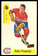 1958 59 PARKHURST HOCKEY #3 ANDRE PRONOVOST VG-EX MONTREAL CANADIENS CARD