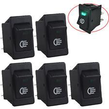 5 X 12V Car Fog Light Rocker Toggle Switch Green LED Light Dash Dashboard Sales