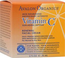 Vitamin C Renewal Facial Cream, Avalon Active Organics, 2 oz