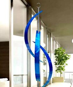 Huge Blue Modern Metal Sculpture Indoor Outdoor Yard Art Decor Jon Allen