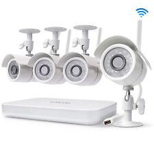 Zmodo Wireless Video Home Surveillance System 1080p 8CH NVR 4 WiFi Camera No HD