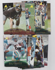 1995 Pinnacle Trophy Collection Parallel 19 Card Lot With Rookies RCs Football