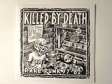 KILLED BY DEATH #1 LP RARE PUNK 1977-82 COLOR VINYL NUNS DOGS THE MAD
