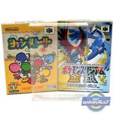 50 Japanese Nintendo 64 N64 Game Box Protectors Japan 0.4mm Plastic Display Case