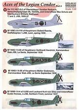 Print Scale Decals 1/48 ACES OF THE LEGION CONDOR Bf-109 & He-112 Part 4