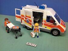 (K77) playmobil ambulance secours maritime, giro son et lumière ref 5541 5539