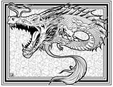 Coloring Page - Dragon # 11 - KUBATI (Hi-Res JPG file will be sent by email)