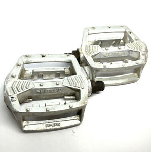 """Shimano PD-MX15 Silver 9/16"""" Pedals Old School BMX Mountain Bike Vintage"""