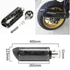 Set of Carbon Fiber Modified Exhaust Tail Pipe for Motorcycle Dirt Bike 36-51mm