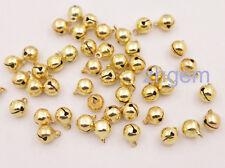 100 pcs cute 7.5*10mm golden metal Jingle Bells for crafts Chrismas Tree Wreaths