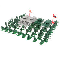 Army Base Accessories - 80pcs Army Men Toy Soldiers Tank Jeep Cars, etc Kits