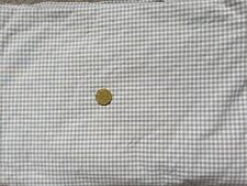 Pottery Barn Kids Organic (5%) Warm Grey Small Check Quilt Cover Single / Double
