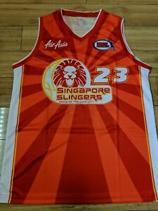 Mike Helms 2007 Singapore Slingers Replica NBL Jersey - large