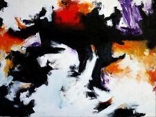 """Black Sunshine"" - Abstract Oil Painting on Canvas Art Print Paris Style 24X36"