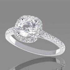 VALENTINE'S 1.50 CT DIAMOND ENGAGEMENT RING ROUND D/SI 18K WHITE GOLD ENHANCED