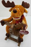 Grandma Got Run Over by a Reindeer Christmas Moose in Rocking Horse Plush Toy