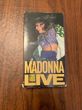 RARE OOP MADONNA THE VIRGIN TOUR LIVE 1985 VHS VIDEO TAPE! POP MUSIC CONCERT