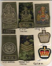 Set #10. Canadian Forces insignia. Warrant Officer slip-ons. RCA.
