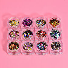 6 Color Nail Art Glitter Powder Dust For UV GEL Acrylic Powder Decoration Tips