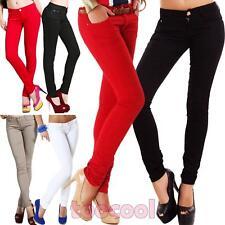 Jeans donna pantaloni elasticizzati curvy taglie comode chino nuovi A1536