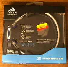 Adidas Performance Sennheiser PX 685i White Sports Headphones iPod iPhone iPad