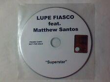 LUPE FIASCO feat. MATTHEW SANTOS Superstar cd singolo PR0M0 RARISSIMO