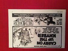 m12u ephemera 1969 film advert carry on up the khyber king kong escapes