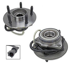 2 Front Wheel Hub Bearing Assembly Pair for 00-04 Ford F-150 4x4 with ABS 5 Lug