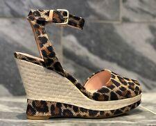 NEW old stock Stuart Weitzman Leopard Print Ankle Strap Wedge Sandal - Stunning!