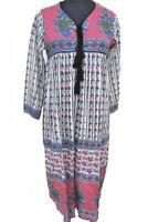 Floral indian gauze dress | Bohemian vintage maxi dress women's | 51 inch long