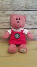 Starbucks Coffee 2016 Red Holiday Bearista Teddy Bear Apron Christmas Plush 10""