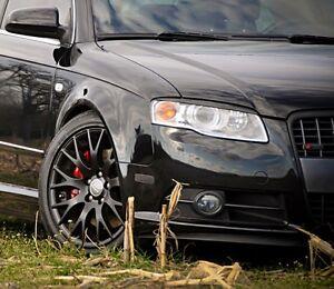 Audi A4 S4 RS4 B7 Headlight Cover Euro Hood Trim Grill Spoiler Eyelid Eyebrow S