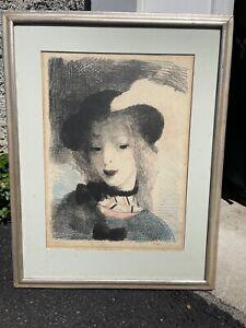 MARIE LAURENCIN Signed 1930 Original Color Lithograph -108/125