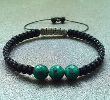Men's shamballa beaded bracelet wristband Jasper stone beads cuff jewelry gift