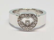 Bague Chopard Happy Diamonds en Or blanc 18 carats 750/1000 13.06 grammes