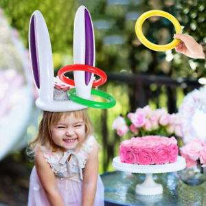 Inflatable Pool Toys Easter Bunny Ears Rabbit party Game Holiday Party Game  Hx