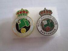 lotto 2 pins lot REAL RACING CLUB DE SANTANDER FC club spilla football calcio