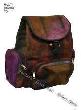 Jordash Bag Backpack Red Multi Tie Dye Cotton And Canvas Material.