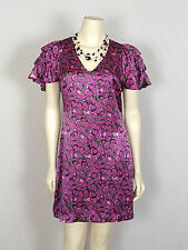 Plenty Frock by TRACY REESE  purple tiered sleeves V neck mini dress size 6