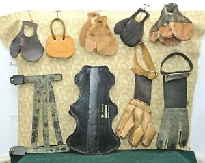 Vintage Archery ~ Kant-Pinch TABS ARMGUARDS & GLOVES + Parts for Tabs