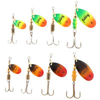 1PC Fishing Lure Bass Hard Baits Spoon With Treble Hook Tackle Spinner BaitEO
