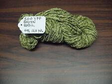 RAYON Chenille Yarn 500 YPP 1 Skein, 4 oz.125 Yards Color Basil