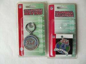 Official Superbowl Super Bowl XLI 41 Pin & Key Chain Indianapolis Colts  NOS