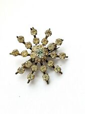 Vintage Brooch Silver Tone Paste Star Style