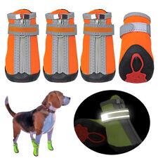 Waterproof Pet Dog Boots Foot Protective Snow Booties Puppy Booties Orange Green
